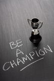 stock image of  be a champion