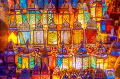 stock image of  the glowing lanterns in cairo, egypt
