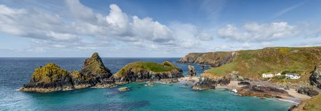 stock image of  beautiful spring day on the west coast of cornwall, kynance cove