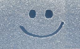 stock image of  smile on snow window