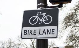 stock image of  bike lane sign