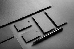 stock image of  blank items as mockups for branding