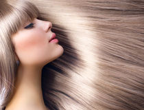 stock image of  blond hair. fashion blond girl