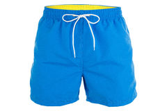 stock image of  blue men shorts for swimming
