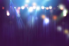 stock image of  blurred lights on stage, abstract of concert lighting