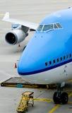 stock image of  boeing 747 plane