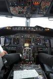 stock image of  boeing 737 flight deck