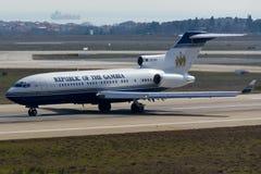 stock image of  boeing 727 plane