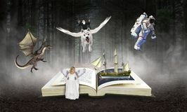 stock image of  book, reading, imagination, storybook, stories