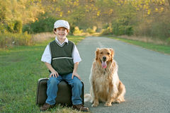 stock image of  boy traveling