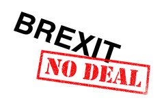 stock image of  brexit no deal