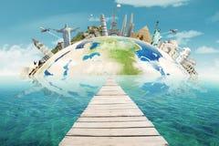 stock image of  bridge to the worldwide monuments