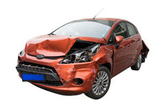 stock image of  broken car