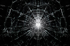 stock image of  broken cracked glass