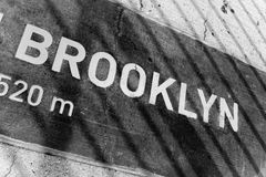 stock image of  brooklyn placard