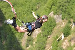 stock image of  bungee jumps, extreme and fun sport.
