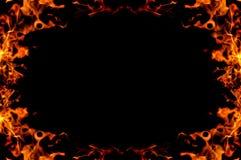 stock image of  burning fire frame