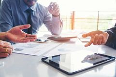 stock image of  business people meeting planning strategy analysis on new business project concept