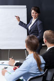 stock image of  business training in the corporation