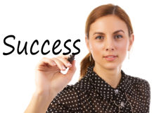 stock image of  business woman writing success