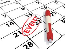 stock image of  calendar and event