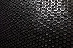 stock image of  musical powerful speaker with a protective grill close-up