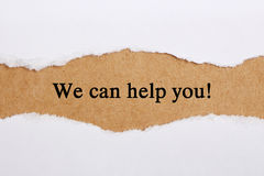 stock image of  we can help you