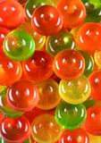 stock image of  candy background. close up. top view. colorful green, red and yellow sweetmeats candies background