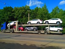stock image of  car transport truck