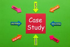 stock image of  case study concept