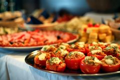 stock image of  catering food