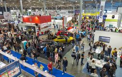 stock image of  cee 2017, the largest consumer electronics trade show of ukraine.