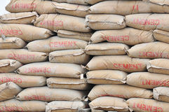 stock image of  cement bags