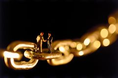 stock image of  chain agreement