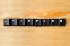 stock image of  champion word