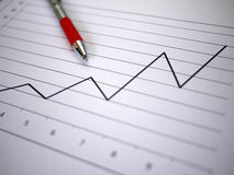 stock image of  chart and pen