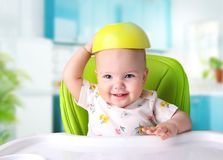 stock image of  child meal.baby eating.kid`s nutrition.