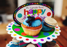 stock image of  children`s desserts birthday