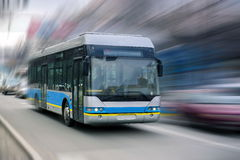 stock image of  city bus.