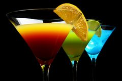 stock image of  close-up view of cosmo drinks on a party