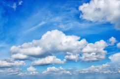 stock image of  cloud and blue sky