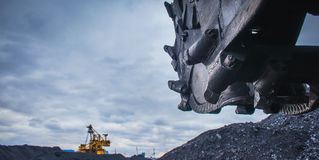 stock image of  coal mining industry