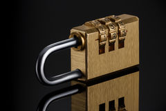 stock image of  code padlock
