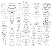 stock image of  collection of vintage dividers, frames, swashes and flourishes