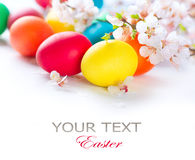 stock image of  colorful easter eggs