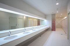 stock image of  commercial bathroom