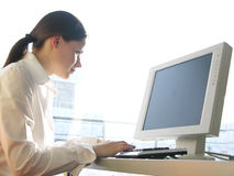 stock image of  computer work
