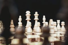 stock image of  concept for challenge and diversity with chess pieces