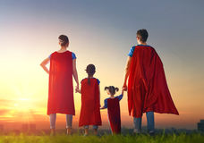stock image of  concept of super family.