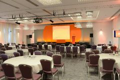 stock image of  conference room with stage